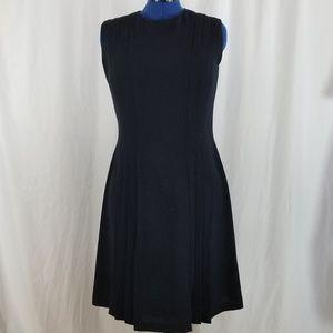 Womens Sleeveless Navy Dress with lining